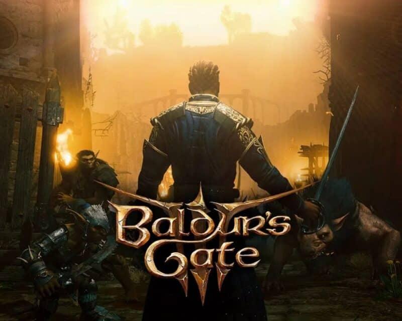 Postać z gry Baldur's Gate, napis