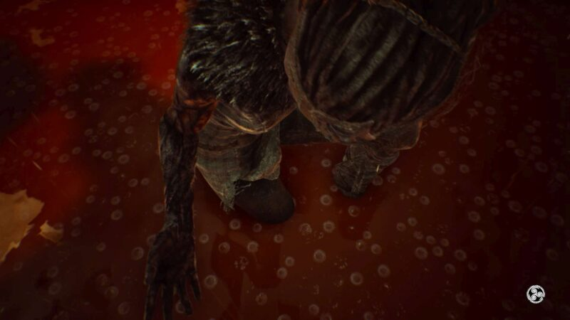 Hellblade: Senua's Sacrifice widoczna zgnilizna ogarniająca rękę bohaterki