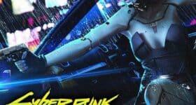 Plakat promujący grę Cyberpunk 2077