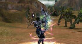 Kadr z gry Metin 2 – postać wyprowadzająca atak