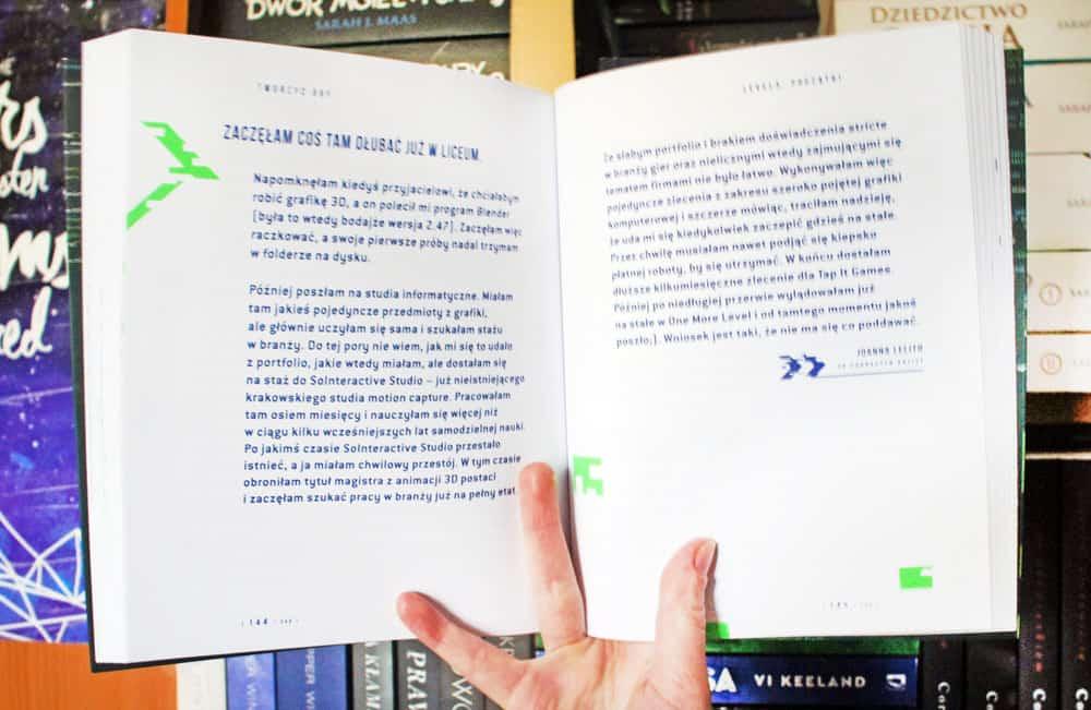 środek książki Tworzyć gry