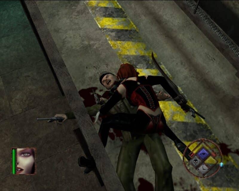 Rayne wysysa krew z żołnierza.