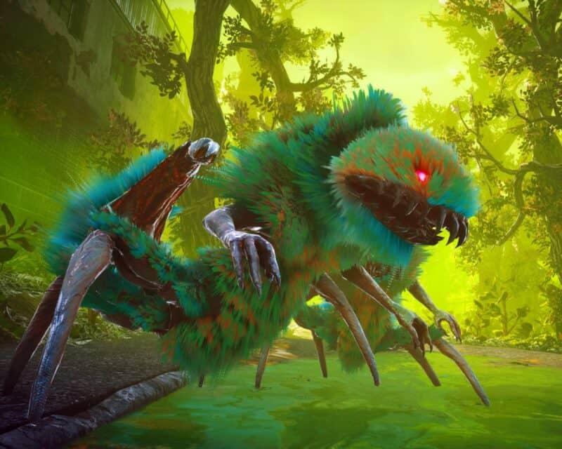 Biomutant rozgrywka – screen z gry, zmutowane stworzenie