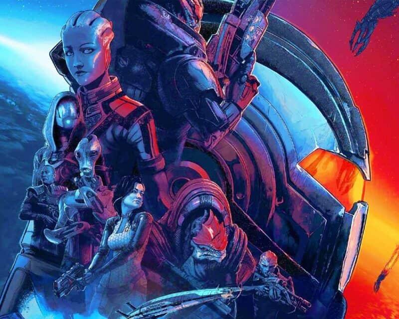 Mass Effect Legendary Edition zakończenie - plakat gry, bohaterowie