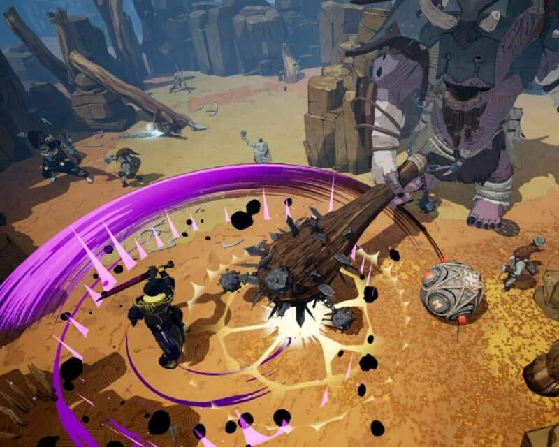 Tribes of Midgard data premiery - screen z gry, gigant z maczugą