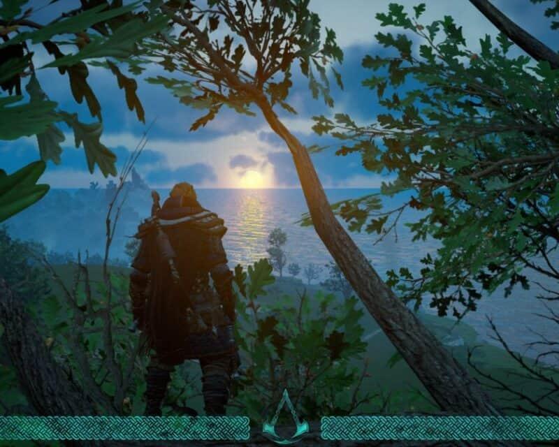 trzecie dlc assassins creed valhalla eivor drzewo zachód słońca