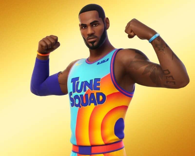 LeBron James w Fortnite - nowe skórki, postać LeBrona w koszulce z Kosmicznego meczu
